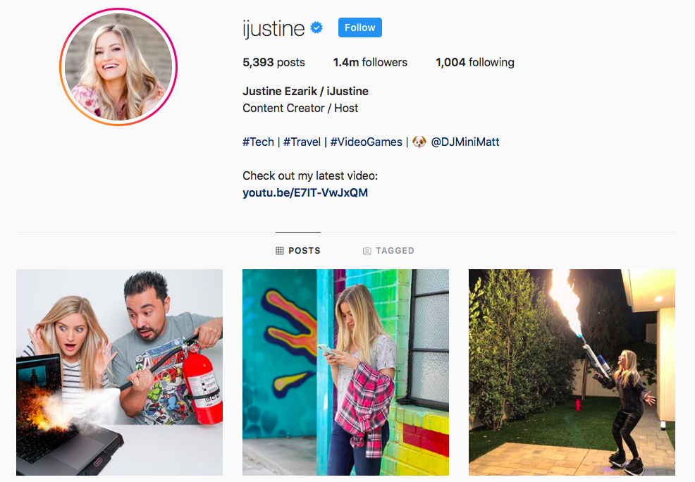 iJustine Top IGTV Channels