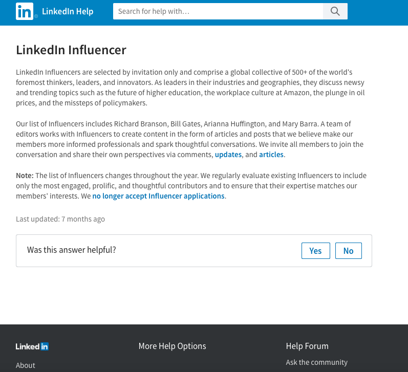 Find LinkedIn Influencers