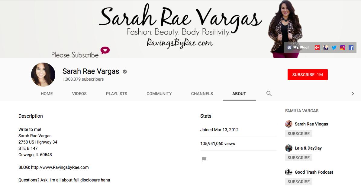 Sarah Rae Vargas top Chicago Influencers