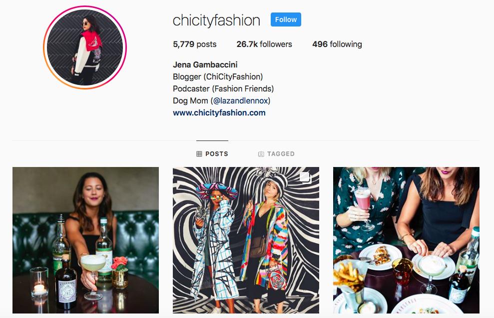 Jena Gambaccini top Chicago Influencers
