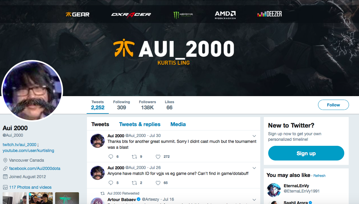 Kurtis Ling top eSports Influencers