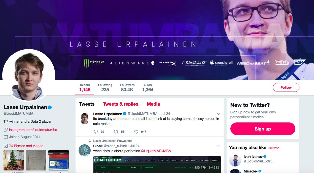 Lasse Aukusti Urpalainen top eSports Influencers