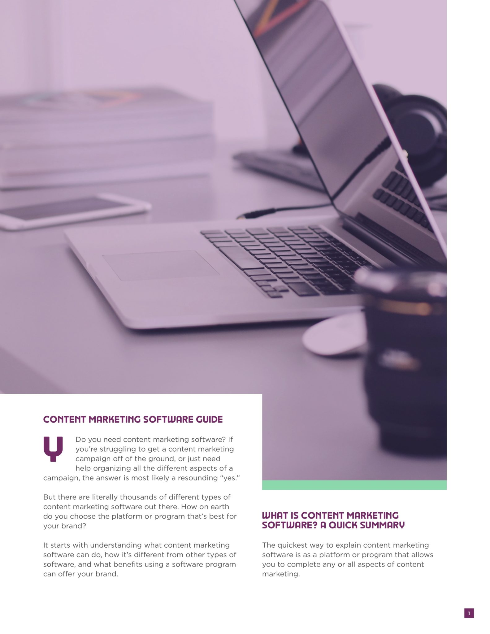 Content Marketing Software Guide