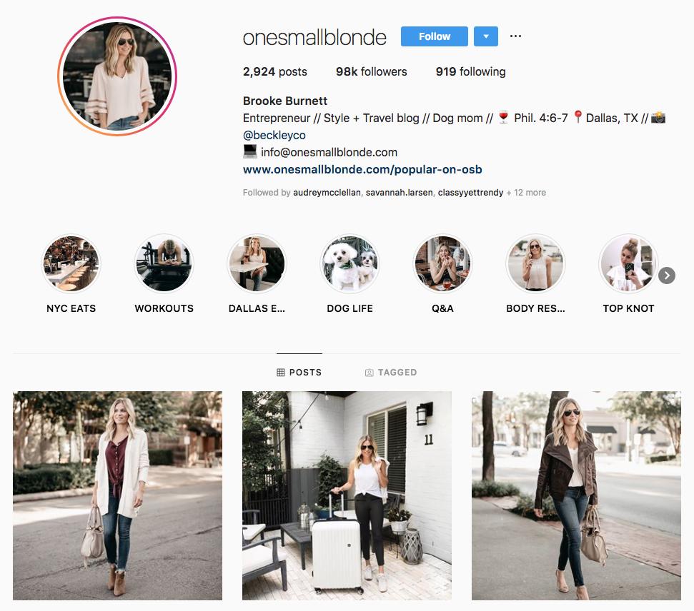 Brooke Burnett Top Dallas Social Media Influencers