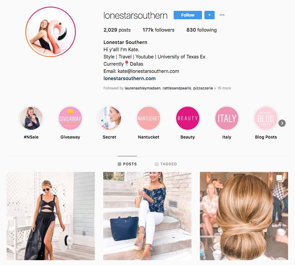 Lonestar Southern Top Dallas Social Media Influencers