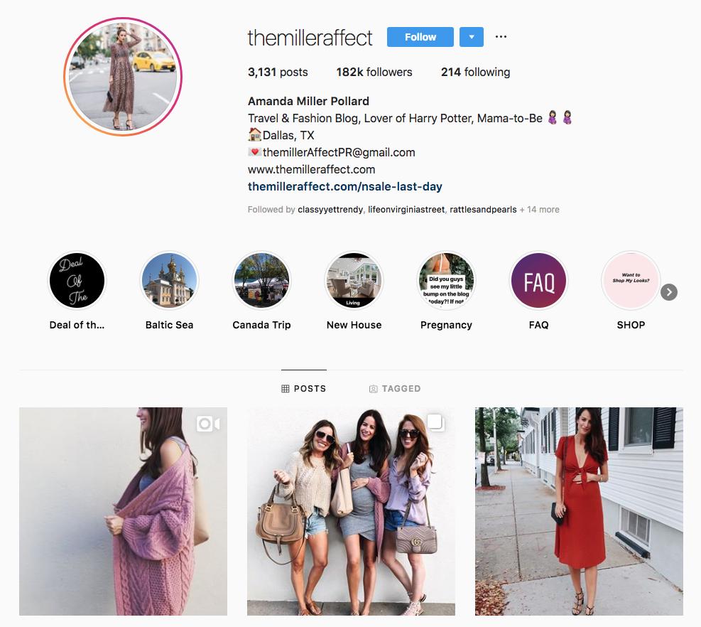 Amanda Miller Pollard top Dallas social media influencers