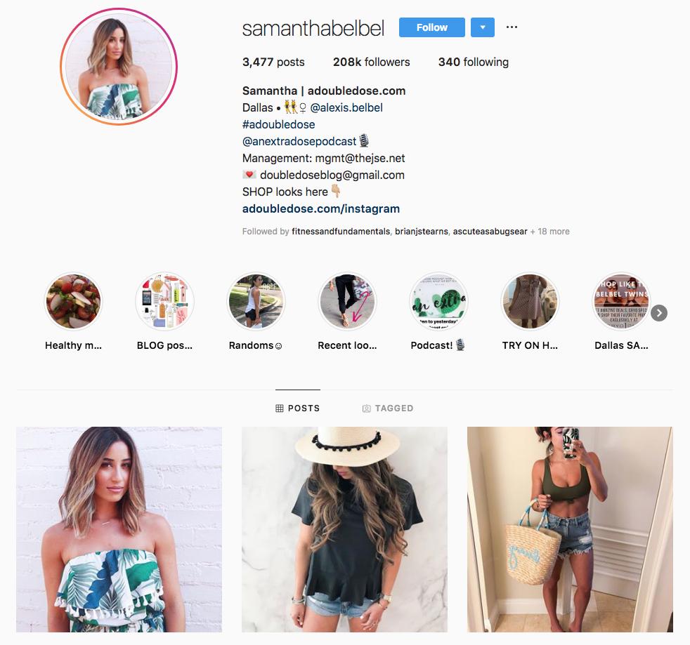 samantha belbel top Dallas social media influencers