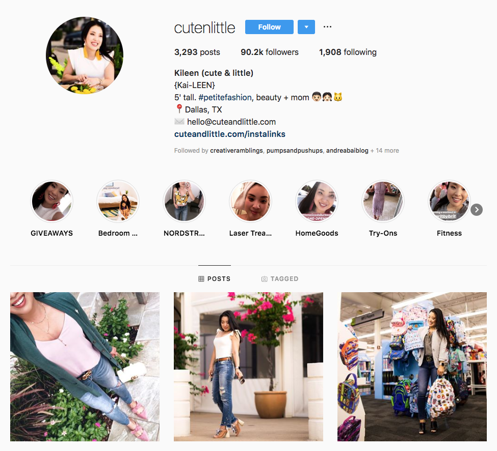 Kileen (cute & little) top Dallas social media influencers