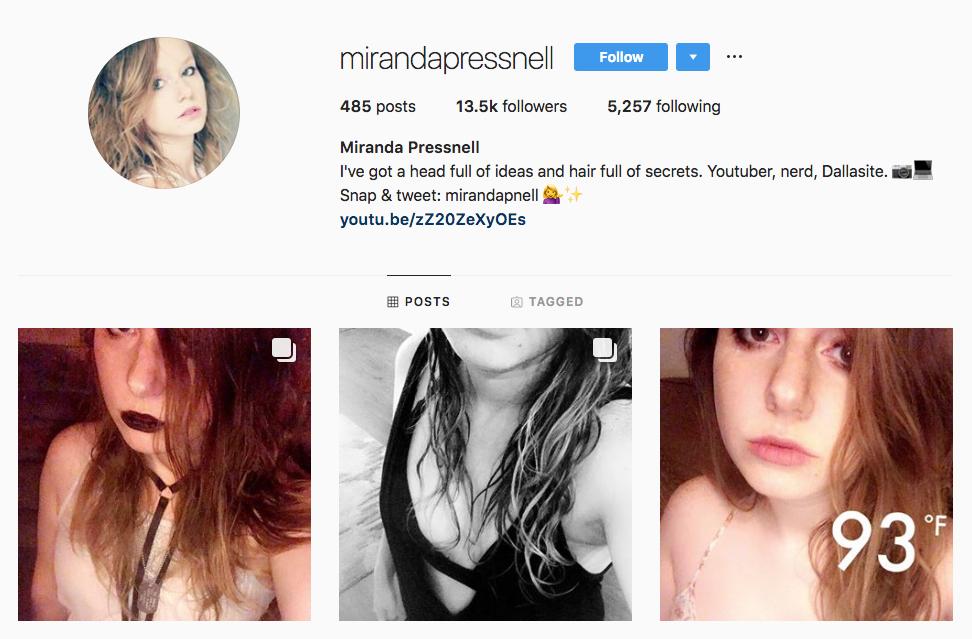 Miranda Pressnell top Dallas social media influencers