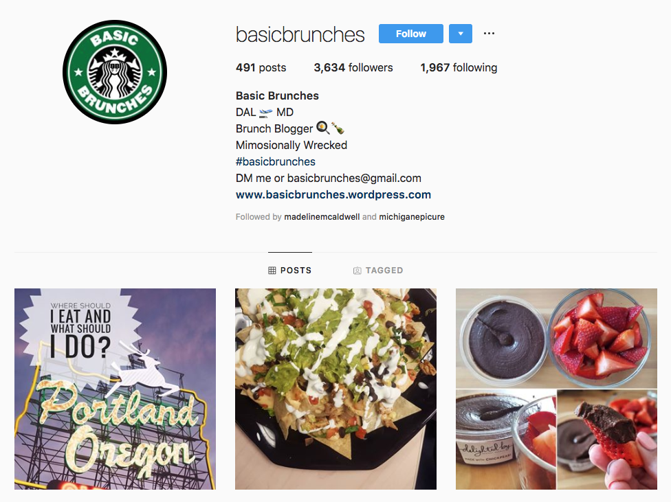 Basic Brunches top Dallas social media influencers