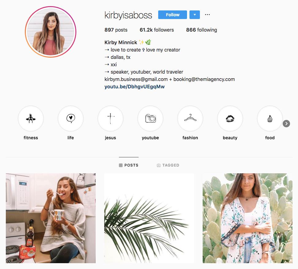 Kirby Minnick top Dallas social media influencers