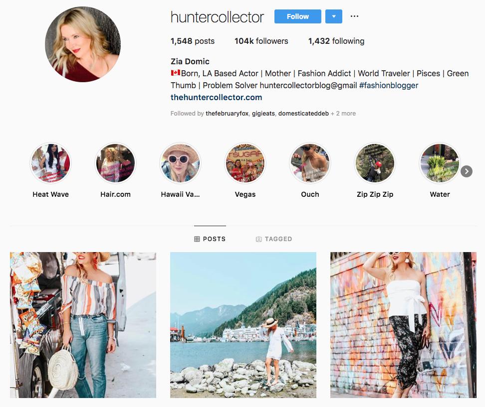 Zia Domic Top Los Angeles Social Media Influencers