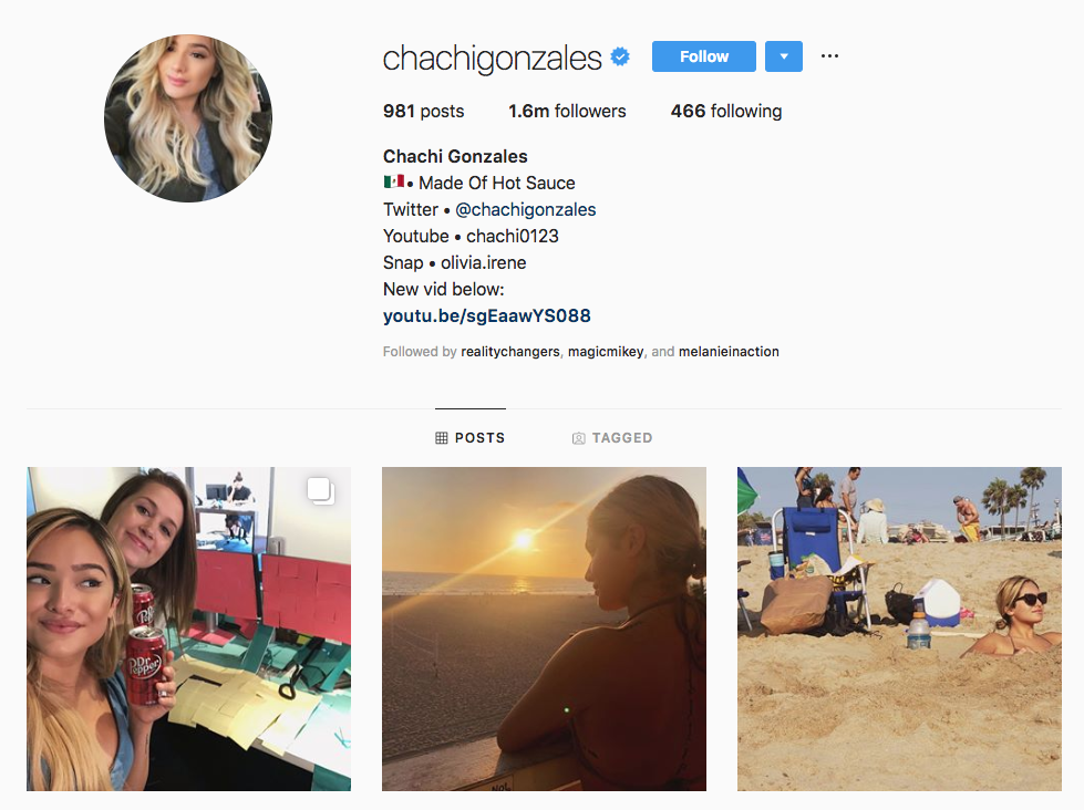 Chachi Gonzales Top Los Angeles Social Media Influencers