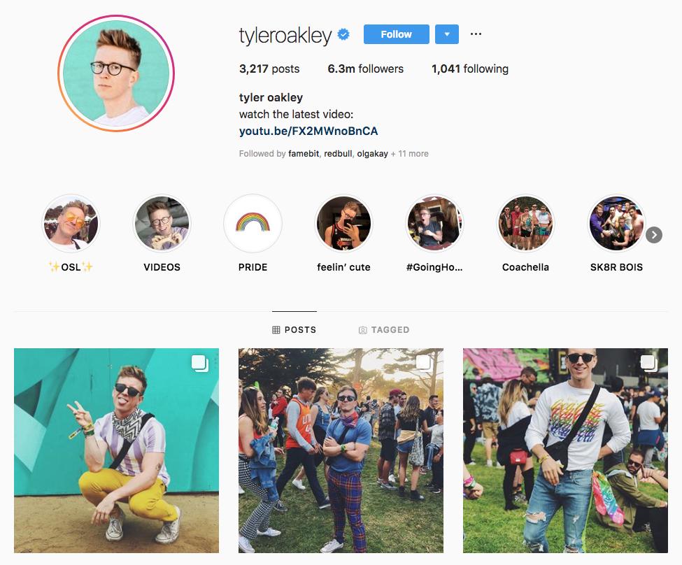 tyler Oakley Top Los Angeles Social Media Influencers