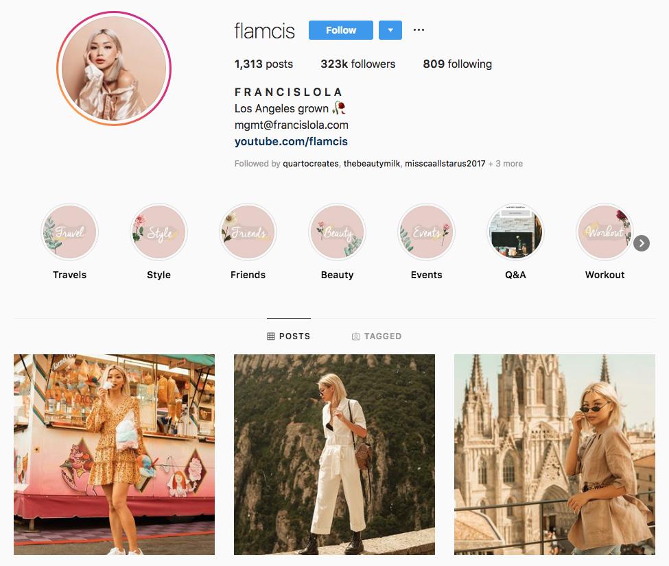 francis Lola Top Los Angeles Social Media Influencers