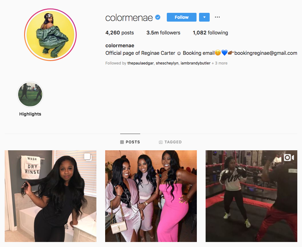 Reginae Carter top Atlanta social media influencers