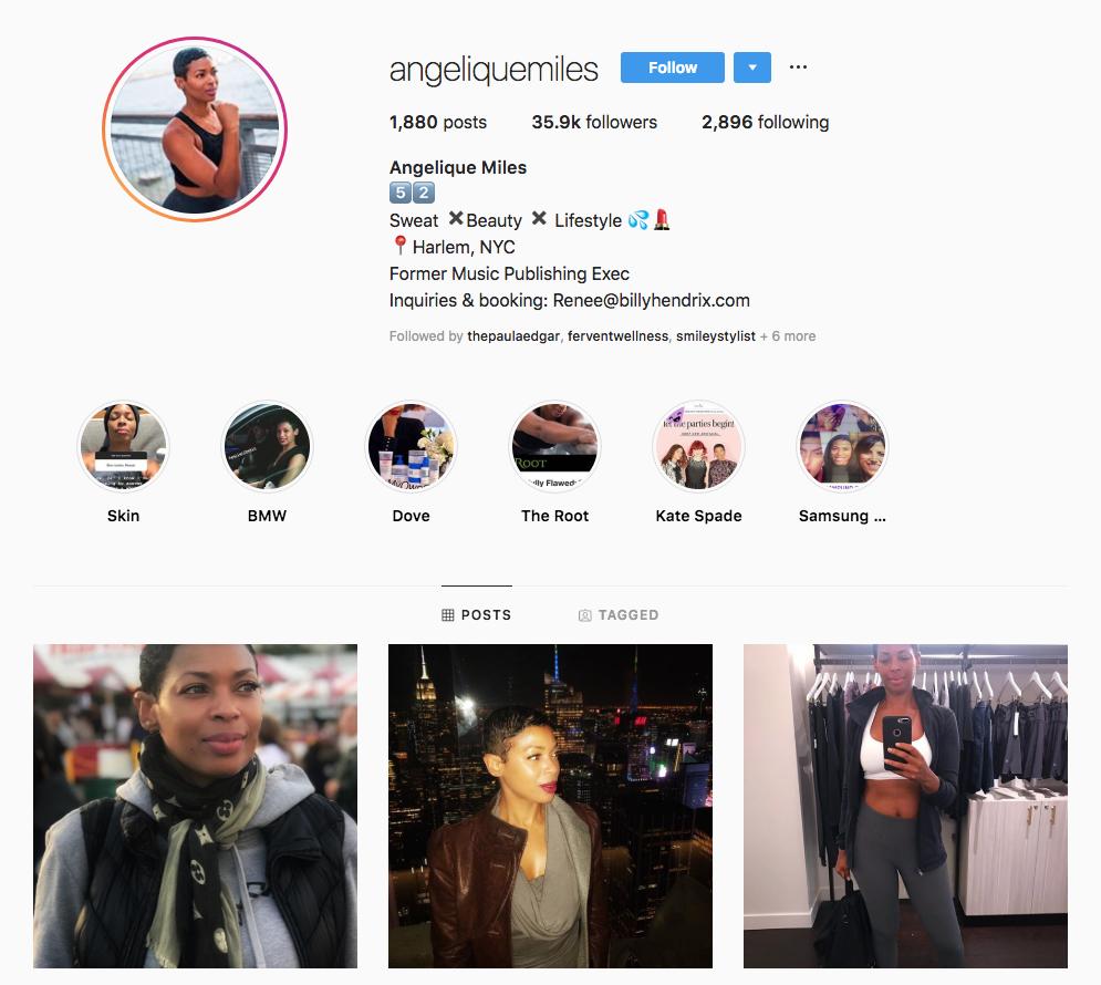 Angelique Miles Top New York Influencers