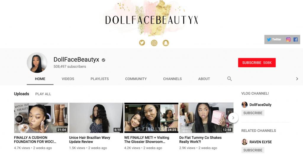 DollFaceBeautyx Top New York Influencers