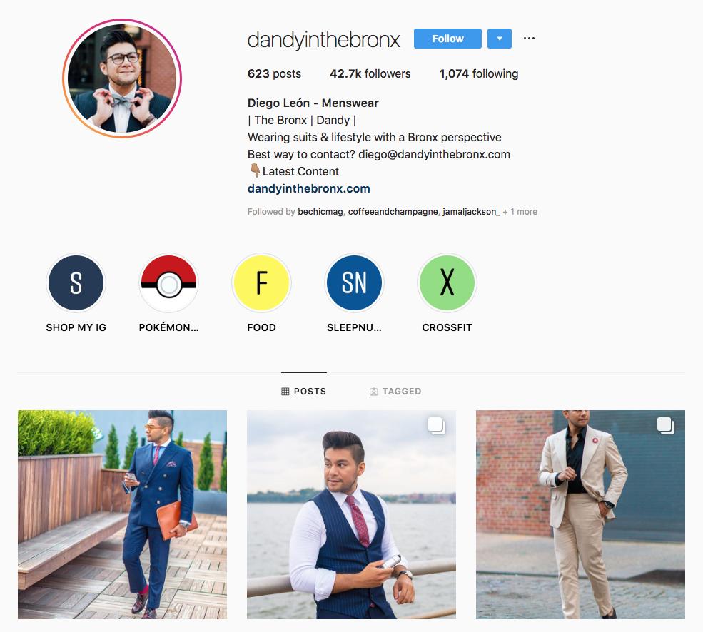 Diego León - Menswear Top New York Influencers
