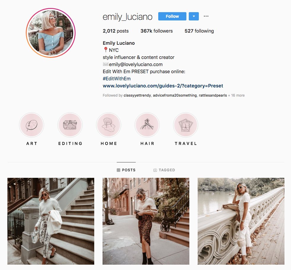 Emily Luciano Top New York Influencers